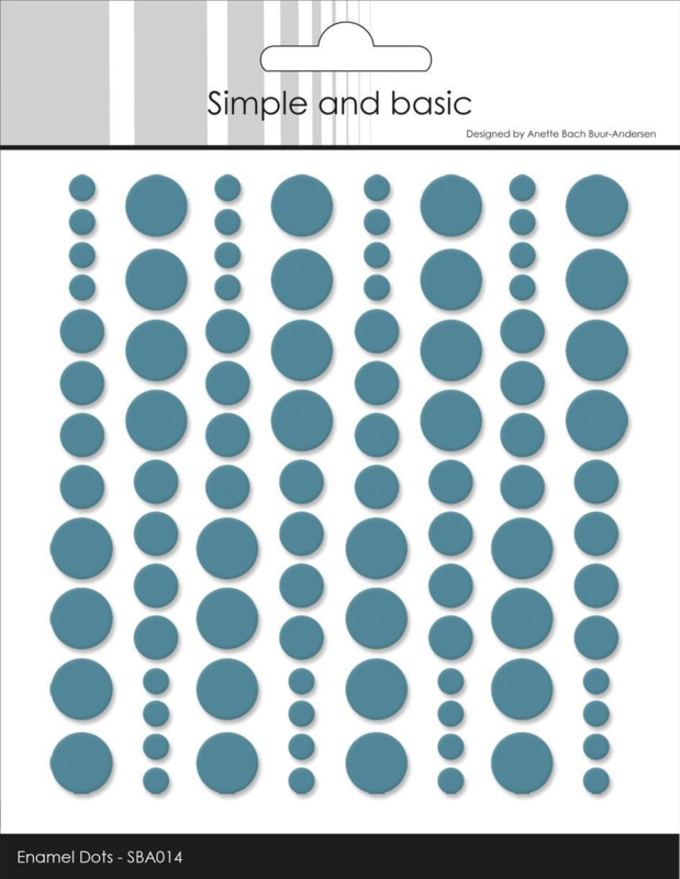 Simple and Basic Adhesive Enamel Dots Aqua (96 pcs)