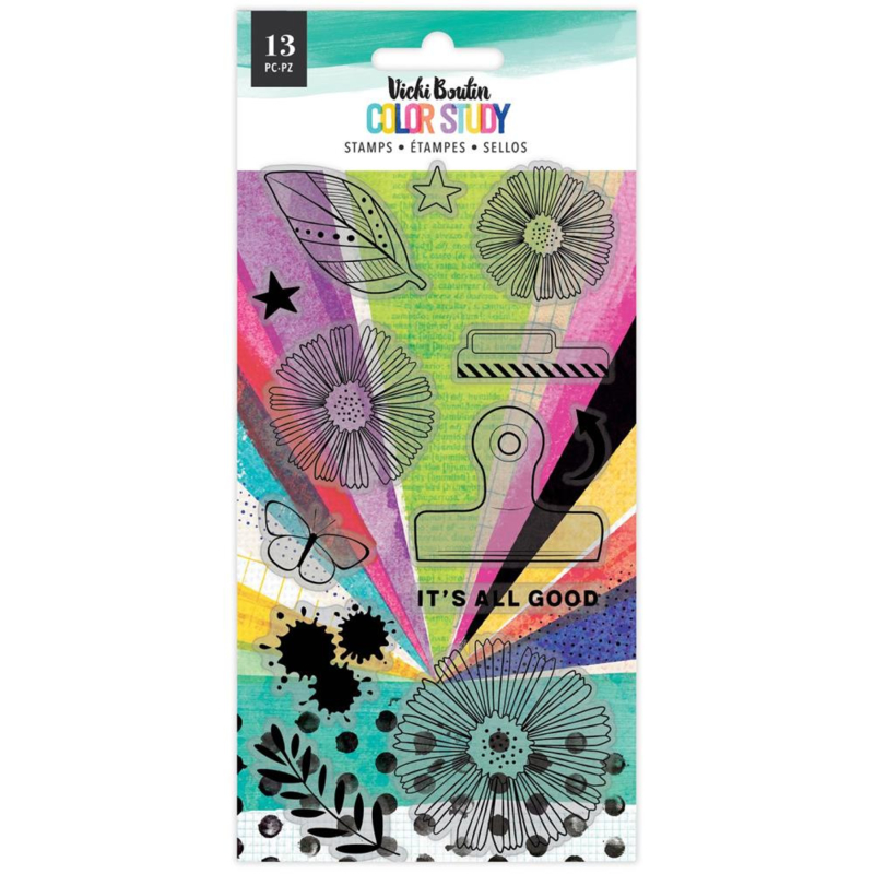 Vicki Boutin Color Study Acrylic Stamps 13/Pkg It's All Good