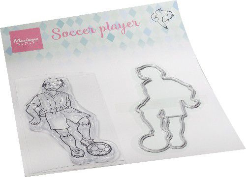 Marianne D Clear Stamps hetty's Voetballer HT1662