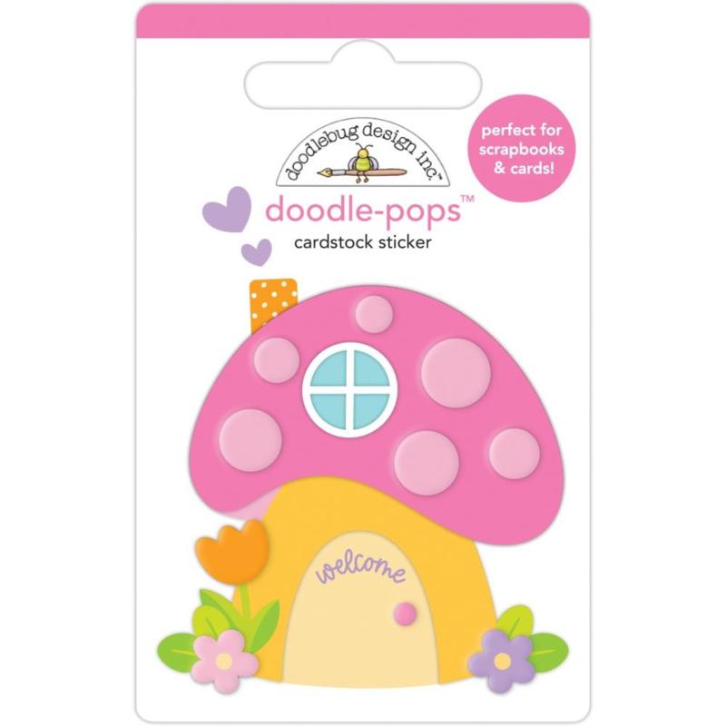Doodlebug Doodle-Pops 3D Stickers Fairy House
