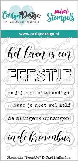 CarlijnDesign Stempels Feestje (CDST-0073)