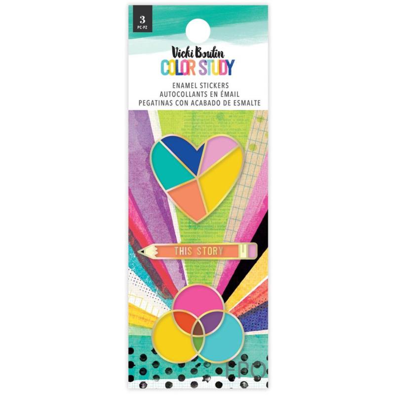 Vicki Boutin Color Study Enamel Stickers 3/Pkg