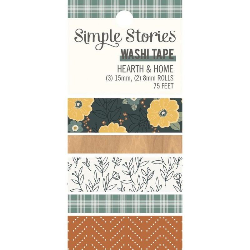 Simple Stories Hearth & Home Washi Tape 5/Pkg preorder