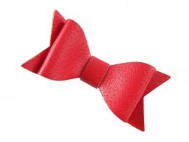 Lokknipje strik leder rood
