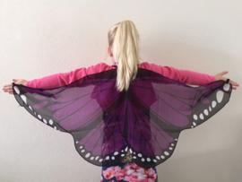 Vleugels vlinder paars