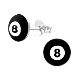 Kinderoorbellen Sterling zilver 925 Snooker