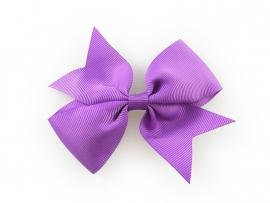 Lokknipje grote strik lint paars