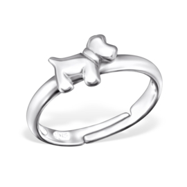 Kinderring sterling zilver 925 Hond