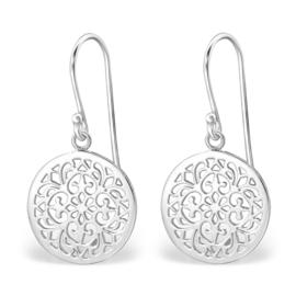 Oorbellen Sterling zilver 925 Rond ornament