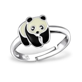 Kinderring sterling zilver 925 Panda