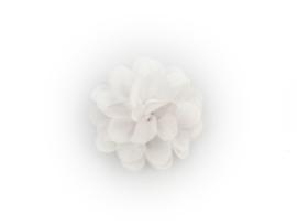 Haarbloem stof wit