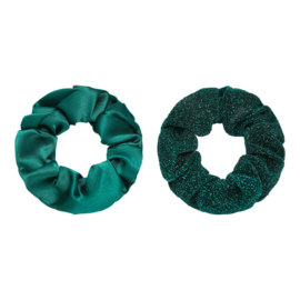 Haarelastiekjes scrunchie groen