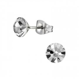 Oorbellen Chirurgisch staal Kegel black diamond