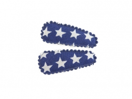 Babyhaarspeldjes kobaltblauw met ster