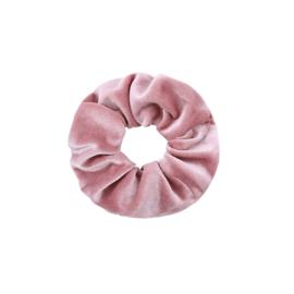 Haarelastiekjes velvet scrunchie roze