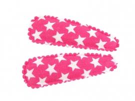 Haarspeldjes fuchsia met ster