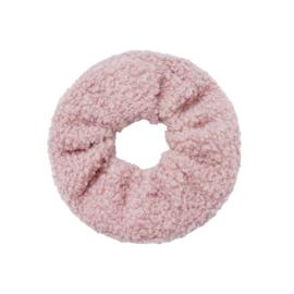 Haarelastiekjes teddy scrunchie roze