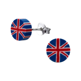 Kinderoorbellen Sterling zilver 925 Vlag Groot-Britannie