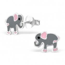 Kinderoorbellen Sterling zilver 925 Grijze olifanten