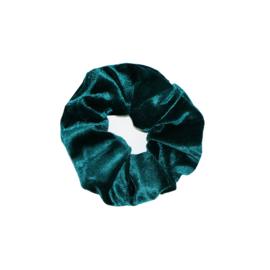 Haarelastiekjes velvet scrunchie groen