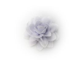 Haarbloem glitter lavendel/wit