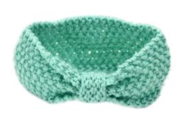 Haarbandjes gebreid groen