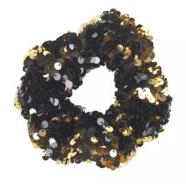 Haarelastiekjes pailletten scrunchie goud