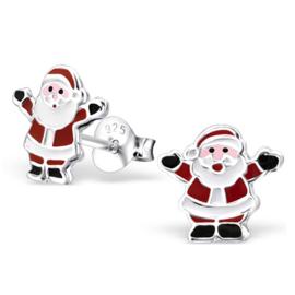Kinderoorbellen Sterling zilver 925 Kerstman