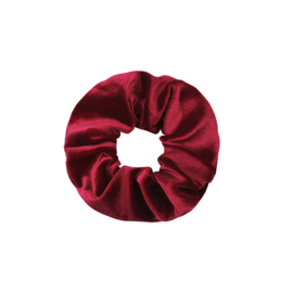 Haarelastiekjes velvet scrunchie rood
