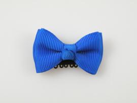 Babyhaarspeldje kobaltblauwe dubbele strik