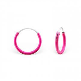 Creolen Sterling zilver 925 Neon roze