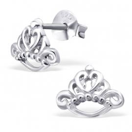 Kinderoorbellen Sterling zilver 925 Tiara