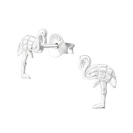 Kinderoorbellen Sterling zilver 925 Flamingo
