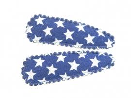 Haarspeldjes kobaltblauw met ster