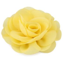 Haarbloem groot stof bloem geel