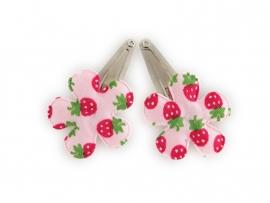 Babyhaarspeldjes roze aardbei