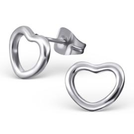 Oorbellen Chirurgisch staal Hart