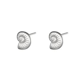 Oorbellen Chirurgisch staal Twisted Shell