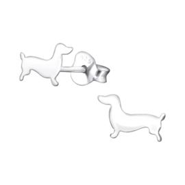 Kinderoorbellen Sterling zilver 925 Hond