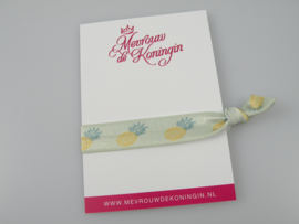 Elastisch band ananas mint