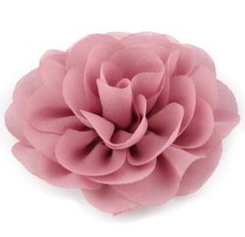 Haarbloem groot stof bloem roze
