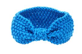 Haarbandjes gebreid blauw