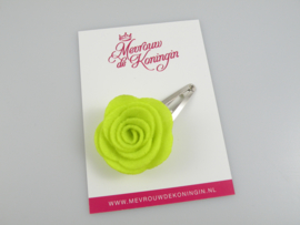 Haarspeldje vilten bloem groen