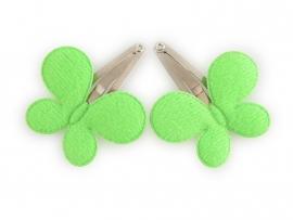 Babyhaarspeldjes groene vlinders