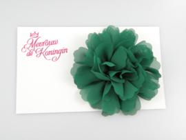 Haarbloem chiffon groot groen