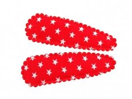 Haarspeldjes rode kleine ster