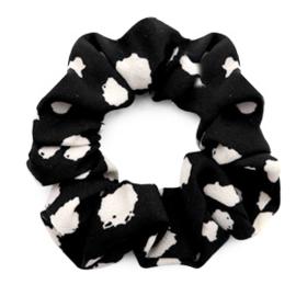 Haarelastiekjes scrunchie dots zwart