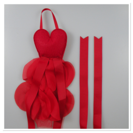 Haarspeldhouder balletjurk rood