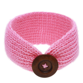 Haarbandjes gebreid knoop roze