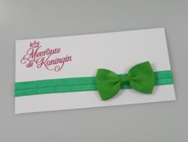 Haarbandjes elastisch strik groen